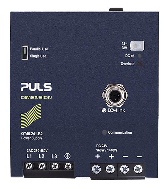 采用 IO-Link 端口的 QT40.241-B2 DIN 导轨电源